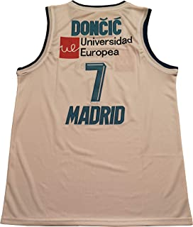 Kooy Luka Doncic #7 Madrid Basketball Jersey Euroleague Dueweer Men Stitched