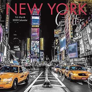 Graphique New York Glitz Mini Wall Calendar, 16-Month 2020 Wall Calendar with Historic American Landmark Photographs, 3 Languages & Major Holidays, 2020 Calendar, 7