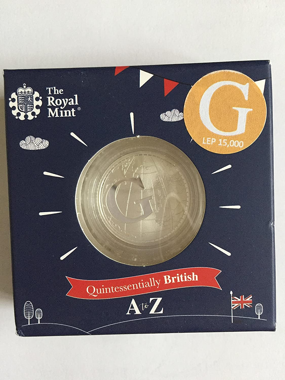 2018 letter G 10p Silver Proof Coin by The Royal Mint