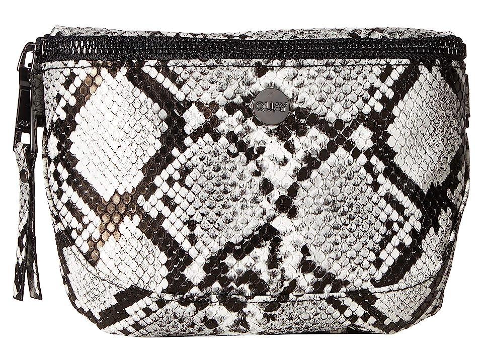 QUAY AUSTRALIA Bum Bag (White/Black/Gun) Handbags