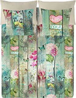 Euromoda Lovers, algodón, Verde/Beige, Cama 180 (260 x 220 cm)