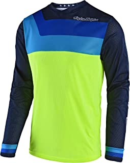 Troy Lee Designs GP Air Prisma Boy's Off-Road Motorcycle Jersey - Flo Yellow/X-Large