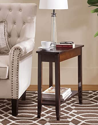 2L Lifestyle  Harbor Modern Wedge Side End Table, Brown