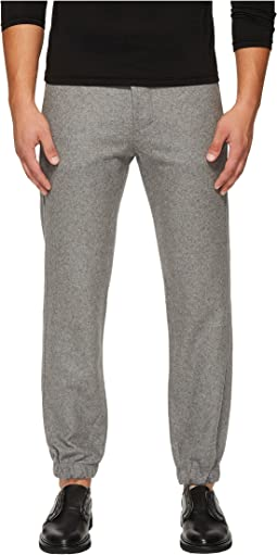 CLOSED - Glenn Cluffed Flannel Wool Jogger Pants