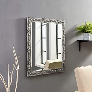 Naomi Home Classic Embossed Mirror Pewter