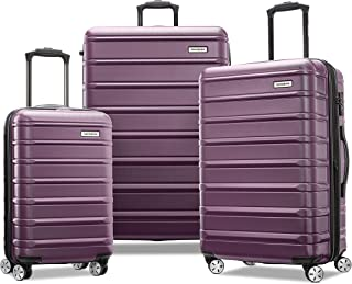 Samsonite Omni 2 Hardside Expandable Luggage with Spinner Wheels, Purple, 3-Piece Set (20/24/28)