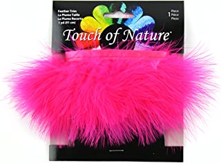 Touch of Nature Fluffy Feather Trim, 2.5 by 36-Inch, Hot Pink
