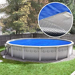 Pool Mate 21S-8SB Box Deluxe Solar Cover, 21-Foot Round, Silver
