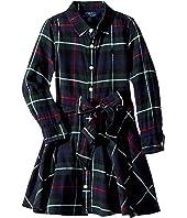 Polo Ralph Lauren Kids - Tartan Flannel Cotton Dress (Toddler)