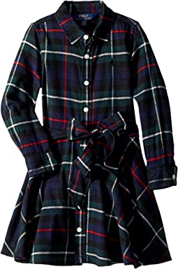 Polo Ralph Lauren Kids - Tartan Flannel Cotton Dress (Toddler)