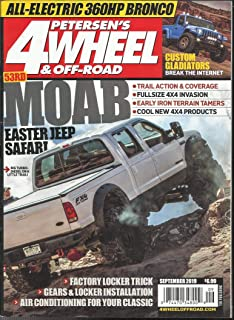PETERSEN'S 4 WHEEL & OFF- ROAD MAGAZINE, MOAB EASTER JEE[ SAFARI SEPTEMBER,2019 ( PLEASE NOTE: ALL THESE MAGAZINES ARE PET & SMOKE FREE MAGAZINES. NO ADDRESS LABEL. FRESH FROM NEWSSTAND) (SINGLE ISSUE MAGAZINE)