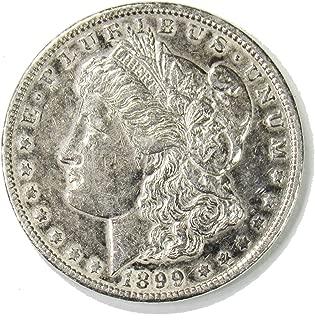 1899 O Morgan Silver Dollar $1 AU Cleaned