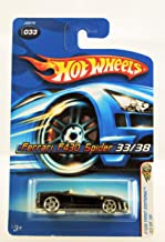 Hot Wheels - 2006 First Editions - 33/38 - Ferrari F430 Spider - Black Convertible - #033 - Limited Edition - Collectible ...