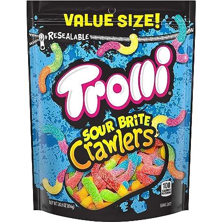Trolli Sour Brite Crawlers Gummy Worms, 28.8 Ounce