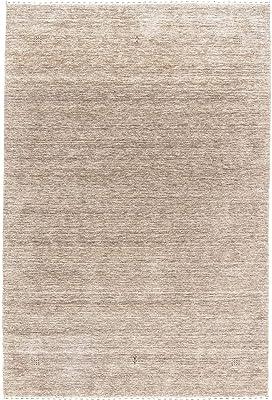 Morgenland Handgewebt Natur Teppich Minimal Muster Einzigartig Design, 241 x 169 cm
