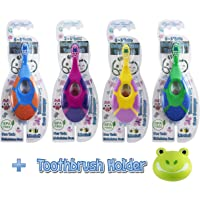 Royal Angels 5 in 1 Baby Toddler Toothbrush & Holder (Multi Color)