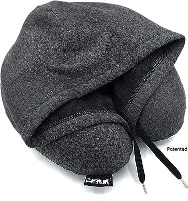 HoodiePillow Memory Foam Travel Pillow (Charcoal)