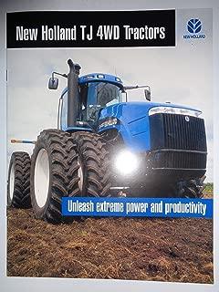 New Holland TJ Series TJ275 TJ325 TJ375 TJ425 TJ450 Tractor Sales Brochure 1/01