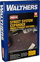 Walthers Cornerstone HO Scale Model Brick Street System Straight Sections