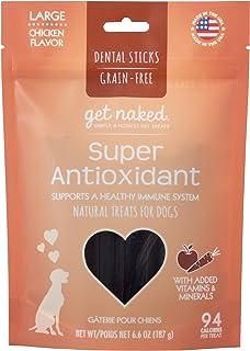 Get Naked Grain Free 1 Pouch 6.6 oz Super Antioxidant Dental Chew Sticks, Large