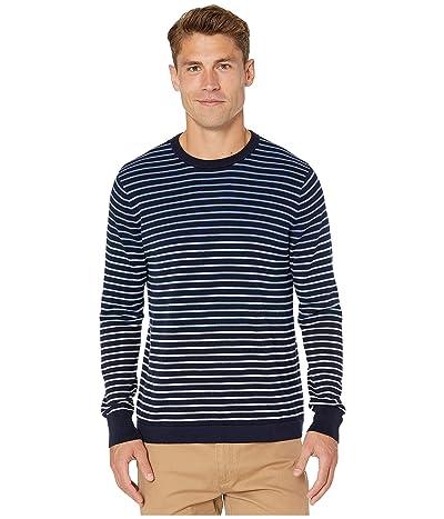 J.Crew Cotton Crew Neck Sweater in Gradient Stripe (Gradient Stripe Heather Peri) Men