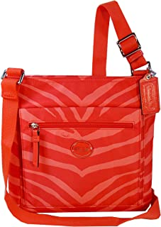 Coach Getaway Zebra Print Nylon File Bag