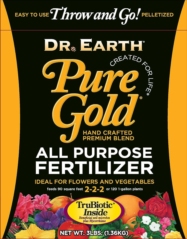 Dr. Earth Pure Gold All Purpose 3lb Pelletized Deluxe Fertilizer Kansas City Mall Bag