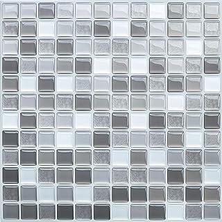 Fliesenaufkleber grau glänzendFliesensticker für Küche und Badalle Größen