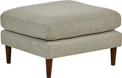 Pleasant Amazon Com Rivet Angled Leg Ottoman Shell Sloane Mid Creativecarmelina Interior Chair Design Creativecarmelinacom