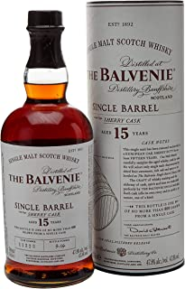 The Balvenie Single Barrell 15 Jahre Single Malt Scotch Whisky mit Geschenkverpackung 1 x 0,7 l