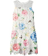 Printed Lace Sheath Dress (Big Kids)