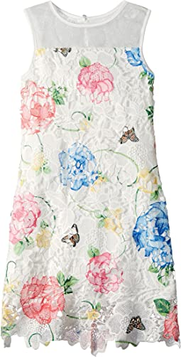 Us Angels - Printed Lace Sheath Dress (Big Kids)