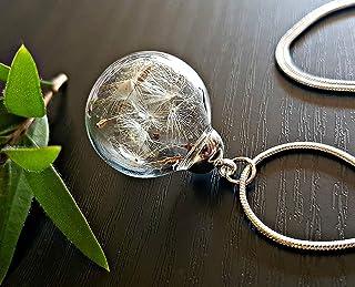 Regalo di Natale Collana classica di tarassaco Catena in argento sterling Pacco regalo desiderio pendente gioielli regalo ...