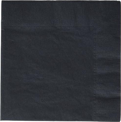 Amscan 20 Serviettes Papier Noir Taille   33x33cm