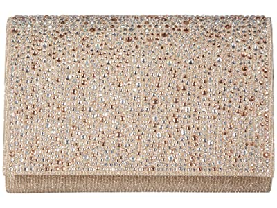 Jessica McClintock Alexis Flap Clutch (Champagne) Handbags