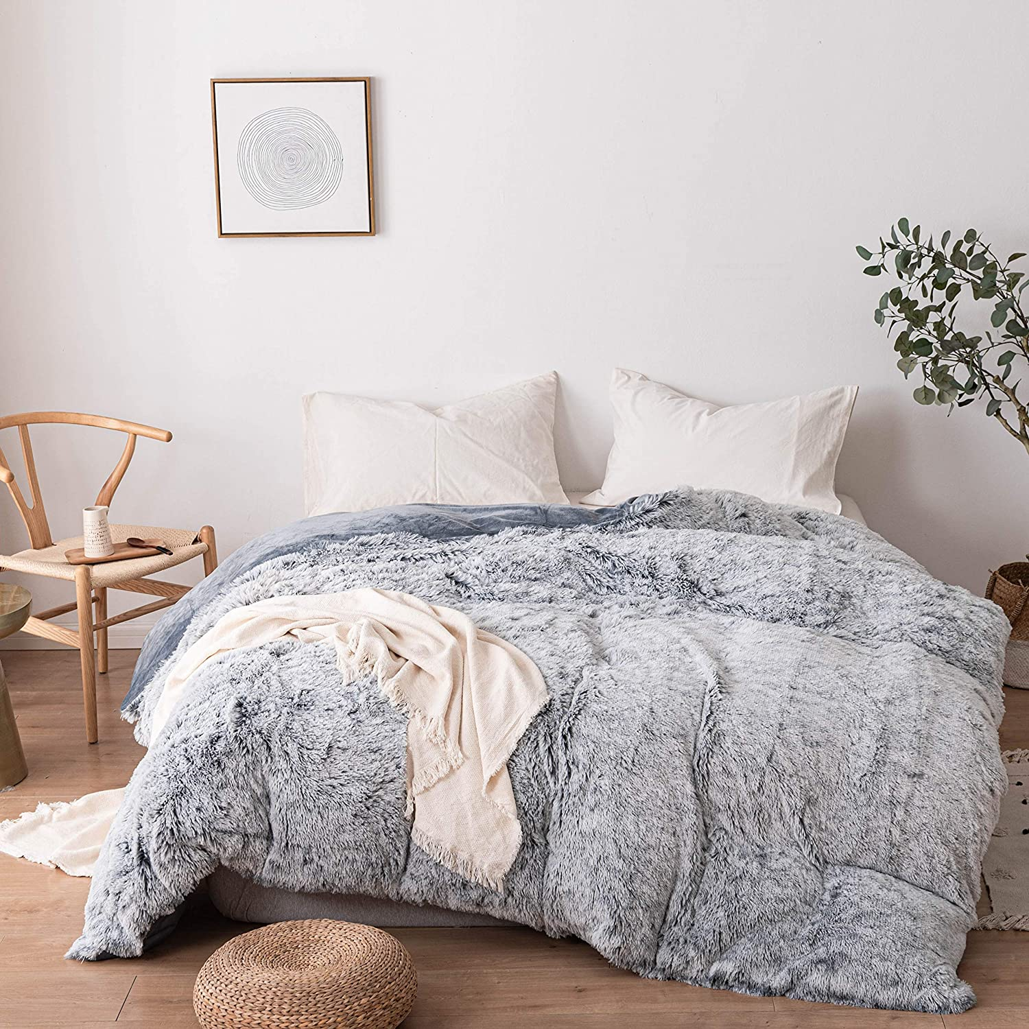 Roore Faux Fur Duvet Cover Luxury Duv SEAL limited product Shaggy Soft Los Angeles Mall Plush Fluffy