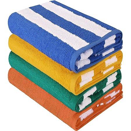 Yellow Cabana Ombre Beach Towel-Resort Quality
