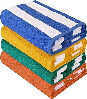 comprar comparacion Utopia Towels - Toalla de piscina grande con toalla de playa en Cabana Stripe, paquete de 4, 100% algodón, cuidado fácil, ...