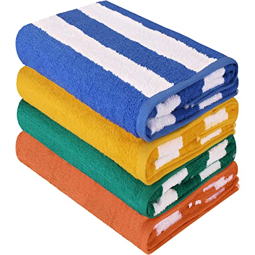 Utopia Towels Premium Quality Cabana Beach Towels - Cabana Stripe Pool Towels (30 x 60
