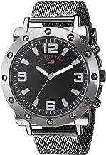 U.S. Polo Assn. Men's Analog-Quartz Watch with Alloy Strap, Black, 22 (Model: US8816)