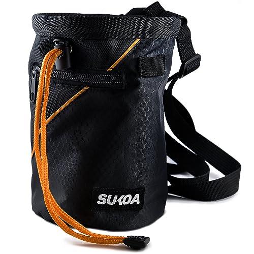 b63483f9bd2e Sukoa Chalk Bag with Quick-Clip Belt and 2 Large Zippered Pockets
