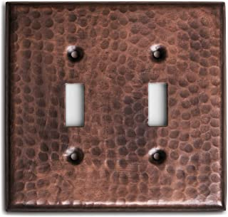 Monarch Pure Copper Hammered Double Switch Wall Plate / Switch Plate