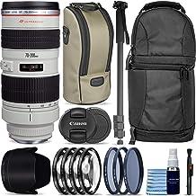 $1299 » Canon EF 70-200mm f/2.8L USM Lens + Sling Backpack + Monopod + 3 Piece Pro Filter Kit + 4 Piece Close-Up Lens Set + Lens Pen + Lens Cleaning Kit Pro Travel Bundle