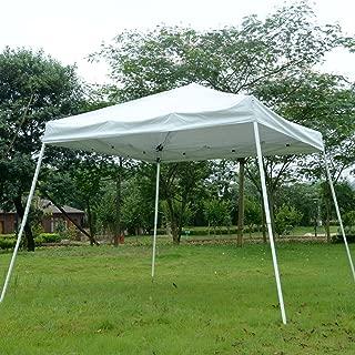 New White 10'x10' EZ Pop Up Canopy Wedding Party Tent Outdoor Folding Patio Gazebo Shade Shelter