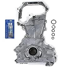 NEW OP90171SI Engine Front Timing Cover, Oil Pump, & RTV Gasket Silicone for 02-06 Nissan Altima Sentra SE-R 2.5L 2500cc DOHC QR25DE