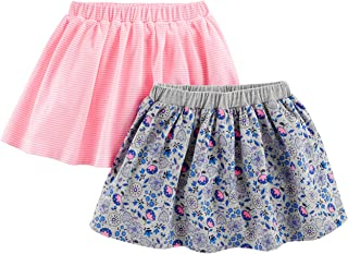 Simple Joys by Carter's Toddler Girls' 2-Pack Knit Scooters (skirt with built-in shorts)