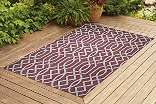 Benissimo Indoor Outdoor Rug Ribon Collection Non-Skid, Natural Sisal Woven and Jute Backing Area Rugs for Living Room, Be...