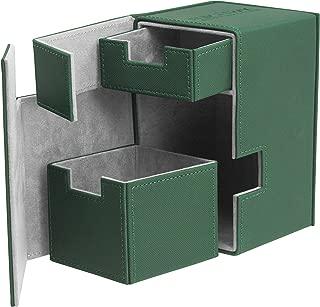 Ultimate Guard Flip´n´Tray Deck Case, 100 Plus, Standard Size, XenoSkin,  Green