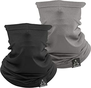 Temple Tape Lightweight Breathable Cooling Neck Gaiter- Men & Women, Multi-Use Face Mask; Running & UV Protection