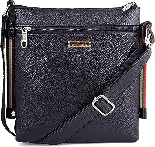Speed X Fashion Original Leather Messenger Bag|Sling Bag|Padded Laptop Compartment|Office Bag| (L=8.5,B=3.5,H=10 inch) FS0...